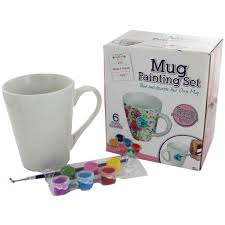 decorate your own tea cup mug painting set craft hobbies at the works