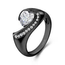 vancaro wedding rings vancaro black series white in 925 sterling silver studded