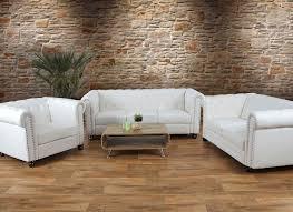 salon haut de gamme salon de luxe 3 2 1 canapés chesterfield similicuir pieds