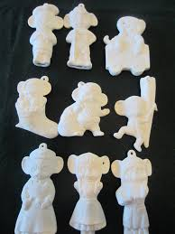 diy unpainted ceramic ornaments kid s craft supply