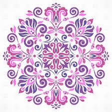 pink floral ornament vector clipart image 28853 rfclipart
