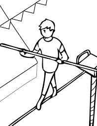 tightrope walking coloring handipoints
