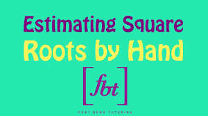 Estimating Square Roots Worksheet Estimating Square Roots To The Nearest Tenth By Hand Fbt Youtube