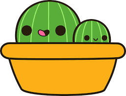cute plant cute cactus in yellow pot stickers by peppermintpopuk redbubble
