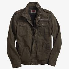 levis sherpa lined military jacket field coat olive green mens xl