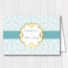 bridal shower thank you cards bridal shower thank you card gold thank you card