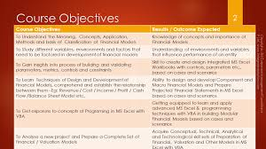 objectives of financial statement analysis fintegrated learning solutions this image consists of the course objectives of integrated financial modeling course