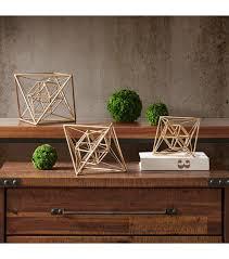 Geometric Metal Table Top Decor Set of 3
