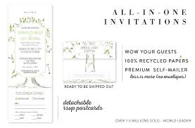 wedding invitations and rsvp all in one wedding invitations send and seal wedding invitations