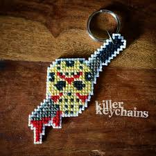 jason voorhees friday the 13th horror ornaments cross