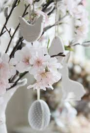 cherry blossom home decor decorating an easter tree gisela graham limited