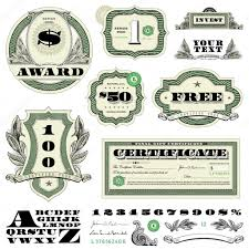 vector money frame and ornament set stock vector createfirst
