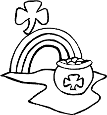 rainbow pot of gold coloring pages 65 best st patrick u0027s day to color images on pinterest coloring