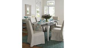 Slipcover Dining Room Chairs Slip Linen Slipcovered Dining Chair Crate And Barrel