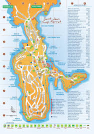 Monaco France Map by Saint Jean Cap Ferrat Hotels And Sightseeings Map