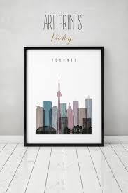 Home Decorations Canada by Toronto Print Poster Wall Art Toronto Skyline Art Distressed