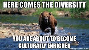 here comes the diversity you are about to become culturally enriched