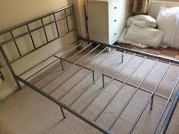 grey metal bed frame in godalming surrey gumtree