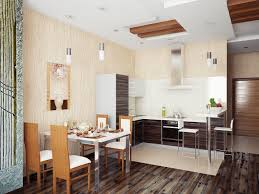kitchen with dining room combination u shaped brick kitchen island