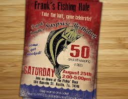 fishing birthday party invitation invite 30th 40th 50th 60th