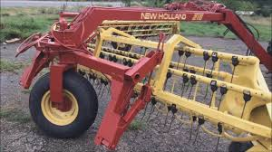 new holland 216 rake youtube