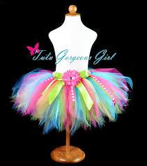 ribbon tutu colorful rainbow birthday tutu featuring polka dot ribbon