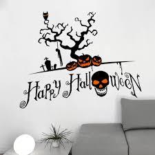 Home Decor Tree Wall Stickers Black Diy Halloween Pumpkin Shape Home Decor Wall