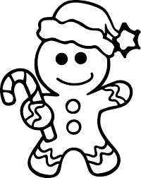 gingerbread man coloring page wecoloringpage