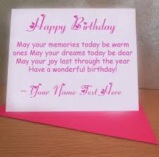 write name on best name wishes card