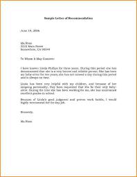 recommendation letters sample recommendation letter
