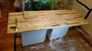 home built battlestation album on imgur solid birch butcher block counter top
