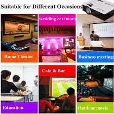 3d hd projectors for home theater excelvan uc40 mini pico portable 3d projector hdmi home theater