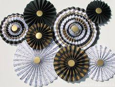 white paper fans kraft browna and white paper rosettes paper by picketfencearts