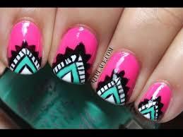 tribal aztec nail art youtube
