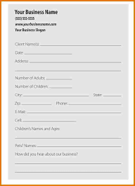 Client Information Sheet Template Personal Information Forms Templates Thebridgesummit Co