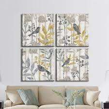 Living Room Song Aliexpress Com Buy 4 Piece Freedom Song Bird Wood Textures Art