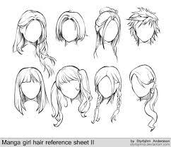 shonen hairstyles girl anime hairstyles hair reference manga girl and girl hair