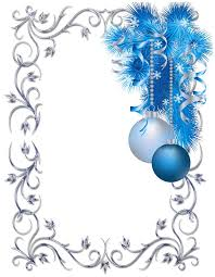 silver and blue ornament frame clip