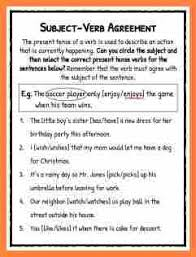 6 present tense subject verb agreement worksheets purchase