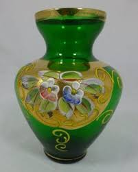 Antique Glass Vases Value Moser Glass Vase Amethyst U0026 22 Ct Gold U0026 Enamel Flowers 8