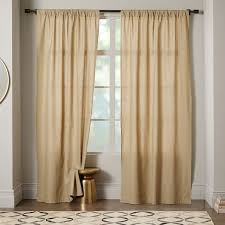 White Window Curtains Linen Cotton Curtain White West Elm