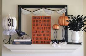 Home Decorations For Halloween by Twenty Halloween Mantel And More Decorating Ideas Fox Hollow