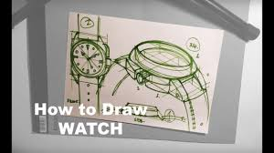 design sketching 101 how to draw a watch youtube