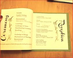exles of wedding program creative wedding programs wedding photography