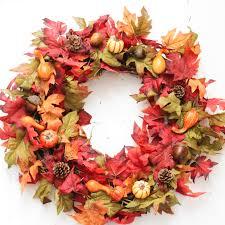 autumn wreath diy front door fall wreath at home with zan