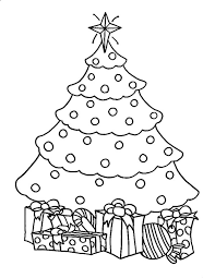coloring page of christmas tree with presents artificial christmas trees with presents coloring pages color luna