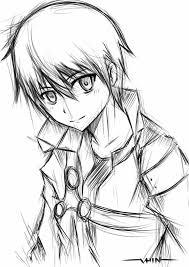 kirito sketch by vhinartist on deviantart