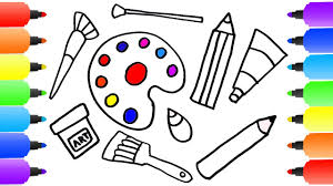 how to draw set tools for painter coloring pages kit for
