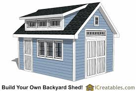 Dormers Roof 12x16 Shed Plans With Dormer Icreatables Com