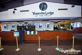 front desk at the yosemite lodge at the falls
